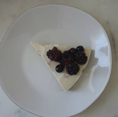 part cheesecake fruits rouges